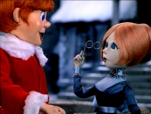 Kris meets Jessica in Santa Claus is Comin' to Town 1970 animatedfilmreviews.blogspot.com