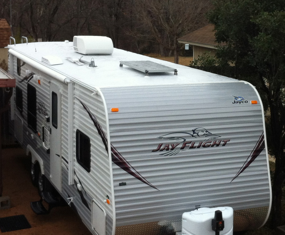 Edward Plumer Solar Panels on Jayco Travel Trailer