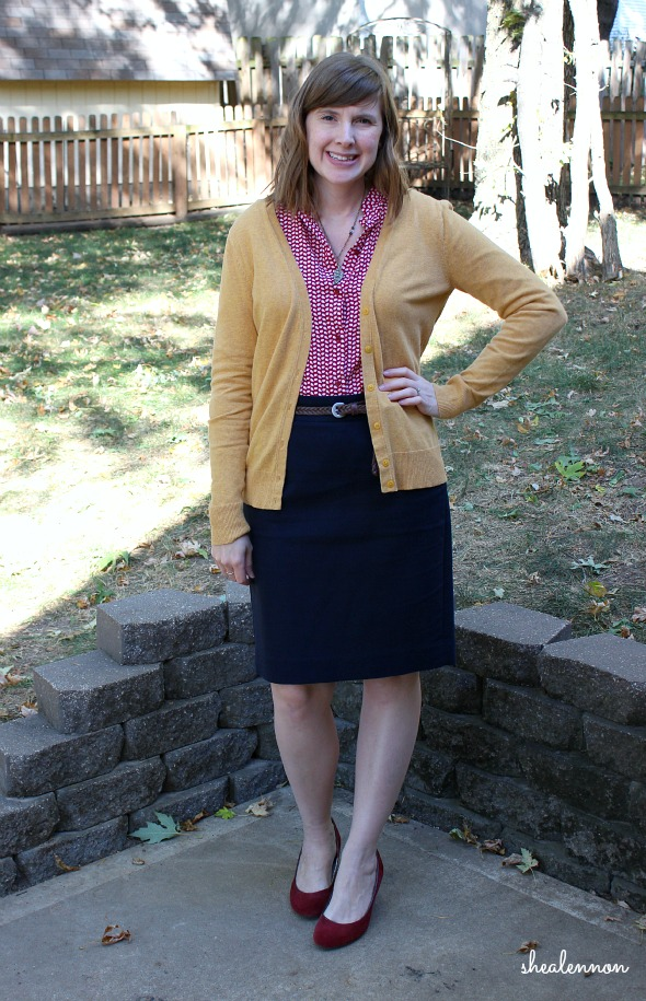 print blouse with pencil skirt for work | www.shealennon.com