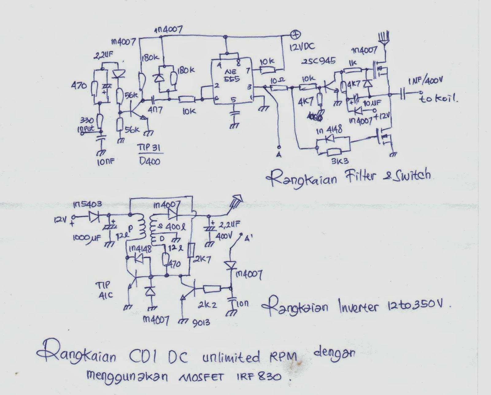 Elektronika Never Die Membuat Dc Cdi Non Limiter Dengan Mosfet Irf 830 To Ac Inverter By Ic 555 And Tip41 Tip42 Rangkaian Ini Tetap Menggunakan Ne555 Sebagai Jantung Seperti Pada Edisi Yang Lalu Karena Selain Mudah Rangkaiannya