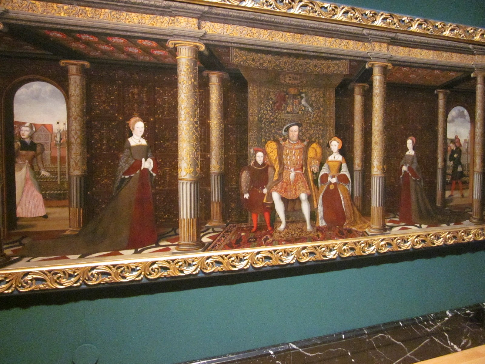 A view of the Henry VIII and family portrait on show at the Painting Paradise exhibition