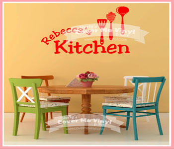 Personalized Kitchen Tools Wall Decal