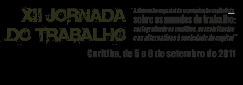 XII JORNADA do TRABALHO
