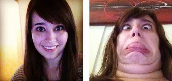 Смешные гримасы красивых девушек. Фото