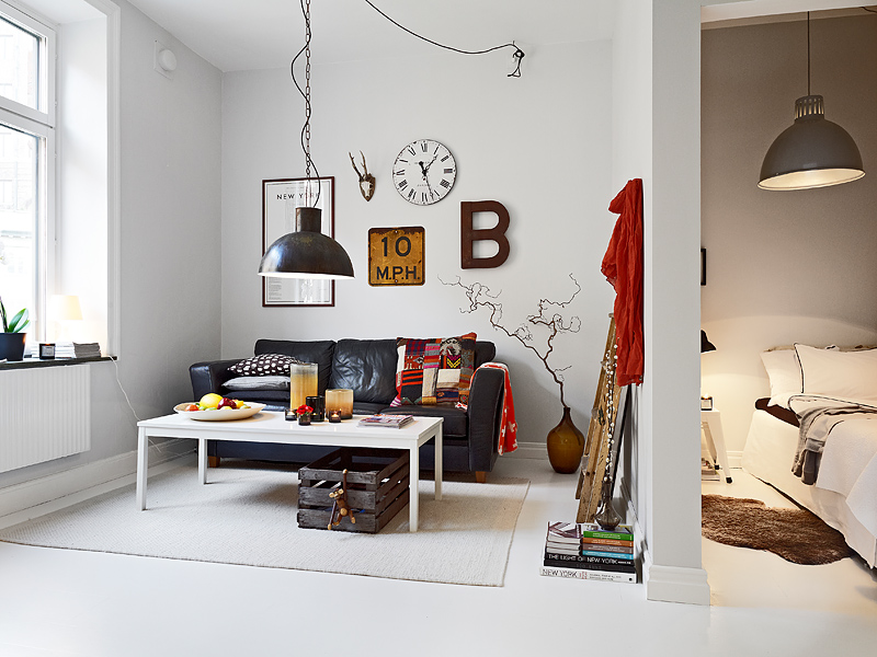 Interior small flat in sweden seaofgirasoles for Small flat interior