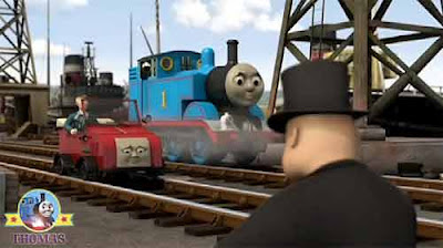 Thomas and Winston trolley arrive at the lively Brendam sea dock yard Sir Topham Hatt and Lady Hatt