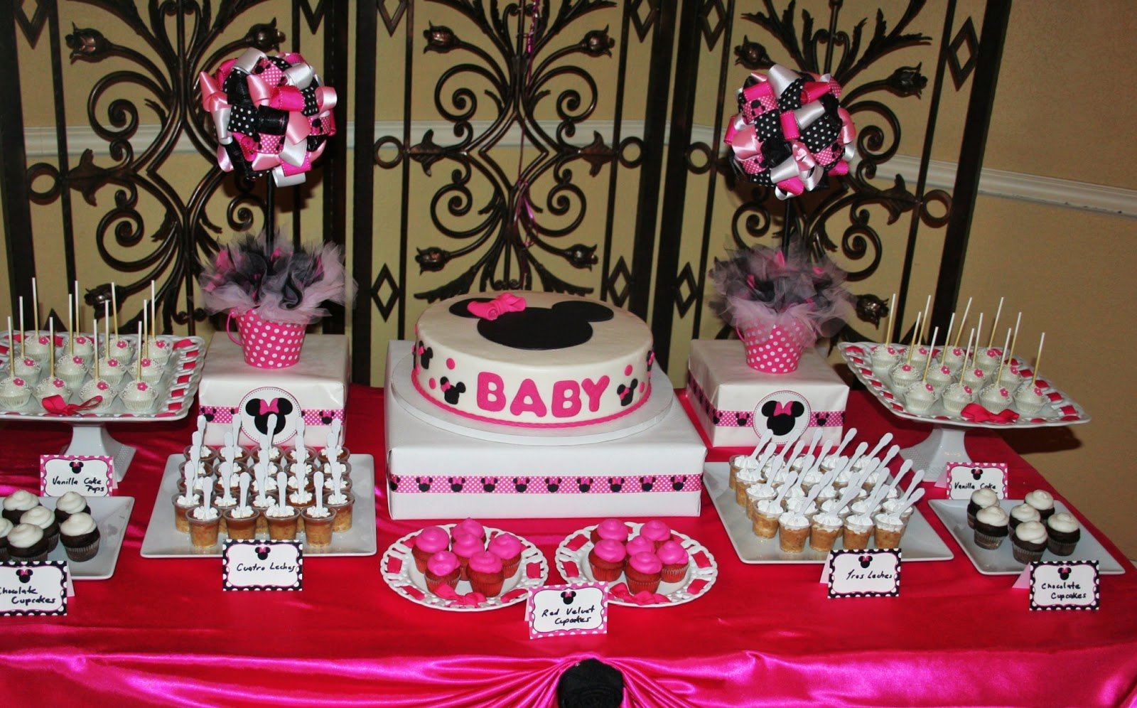 Baby minnie mouse baby shower decorations best baby for Baby shower decoration images