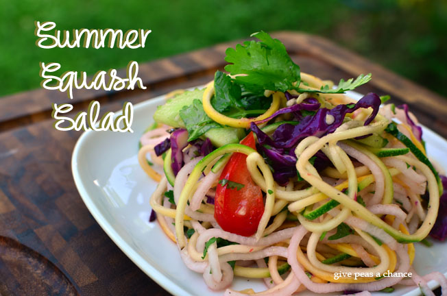 Give Peas a Chance: Summer Squash Salad