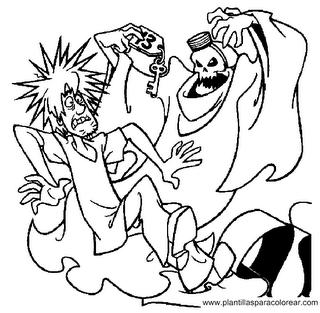 Scooby Doo para dibujar pintar colorear recortar y pegar