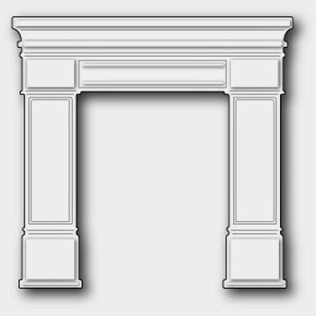 Poppystamps Die Grand Madison Fireplace die