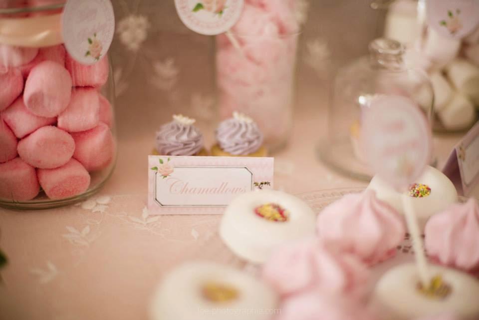 étiquette bonbons roses