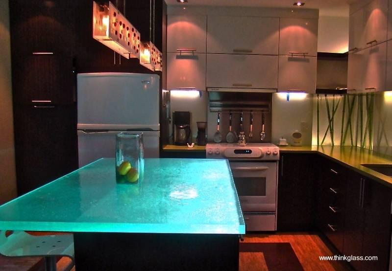 Arquitectura de casas 10 encimeras de vidrio nicas - Encimeras de cocina de cristal ...