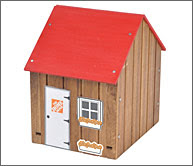 Home Depot Free Kids Workshop - Make a Savings Shed 1/7/12