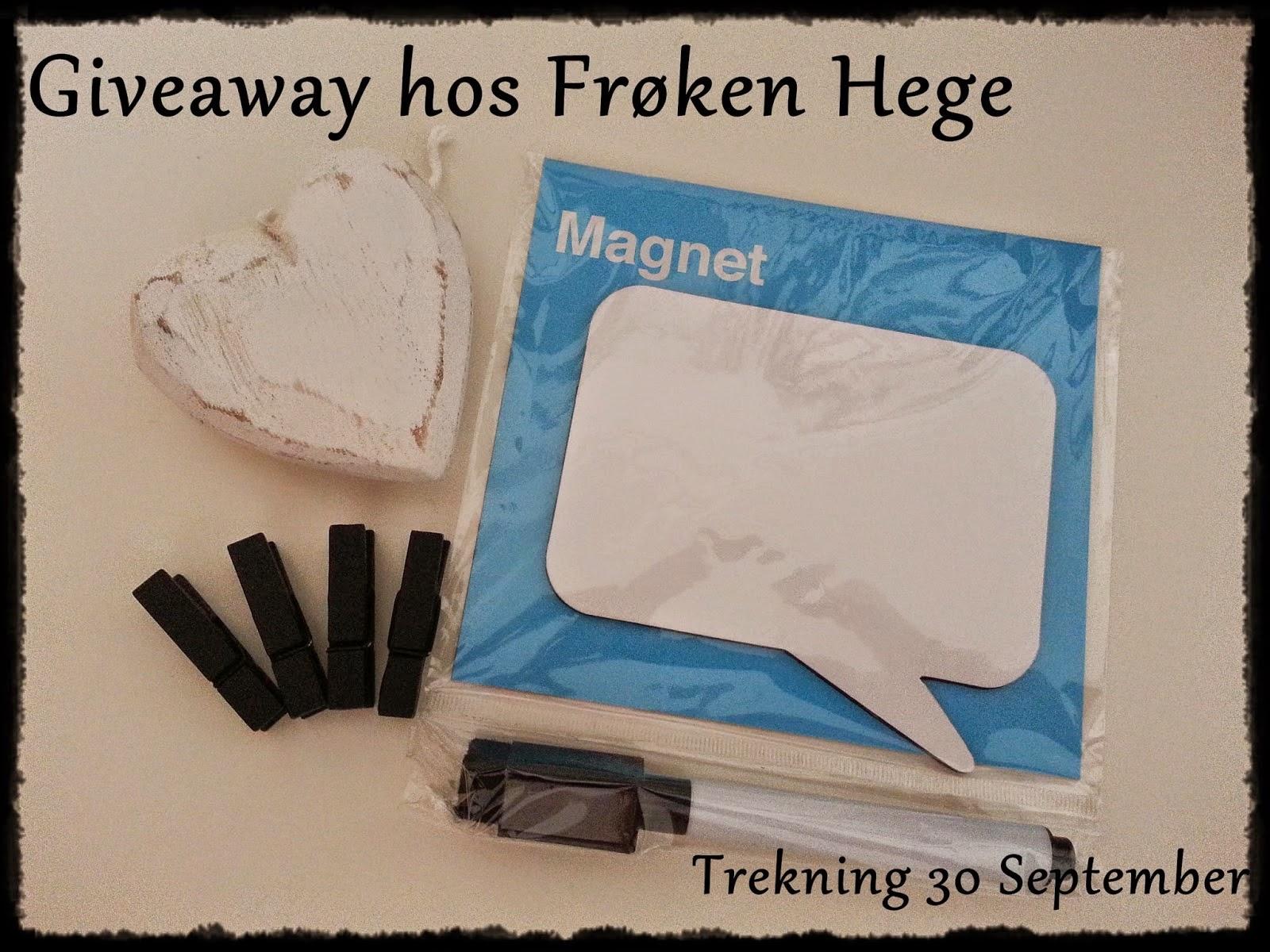 """Give away hos """"Frøken Hege"""""""