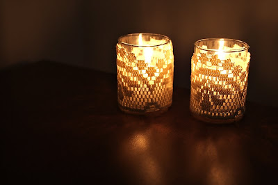 Doily Lace Candle Votive Tutorial