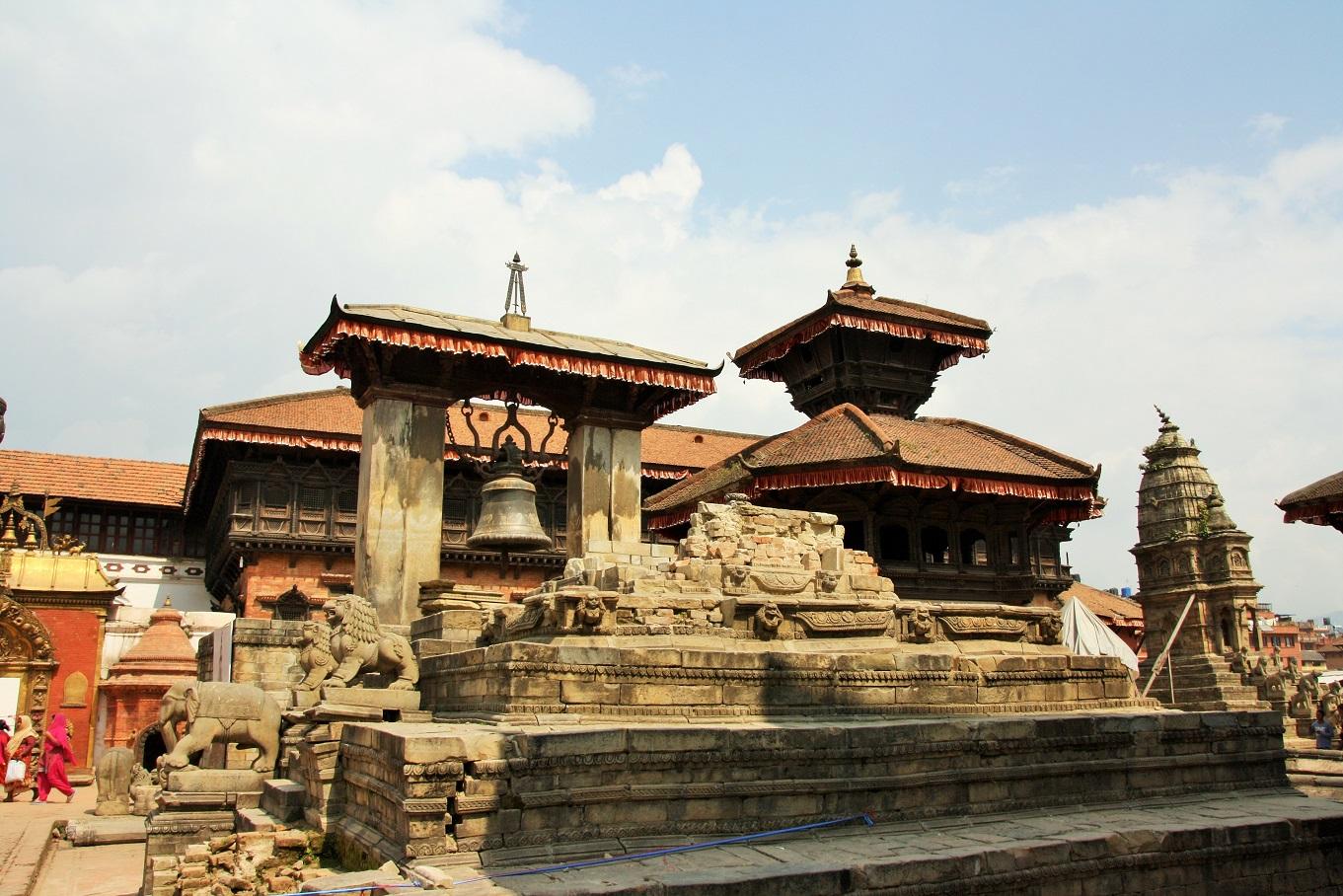 Ingestorte tempel Bhaktapur