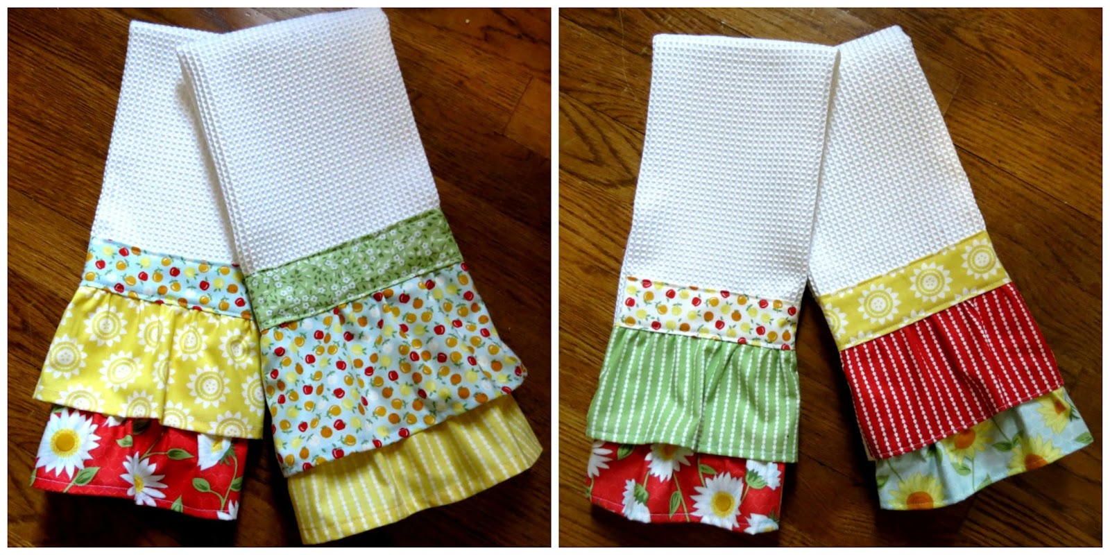 and there you have your lovely new springtime kitchen towels. beautiful ideas. Home Design Ideas