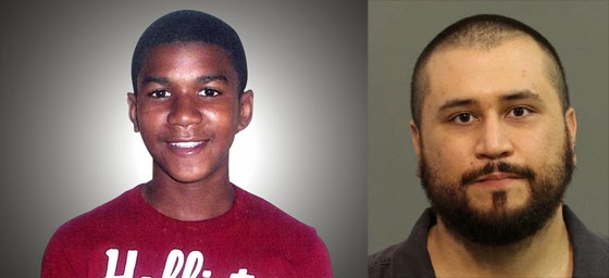Trayvon Martin (left) and George Zimmerman.