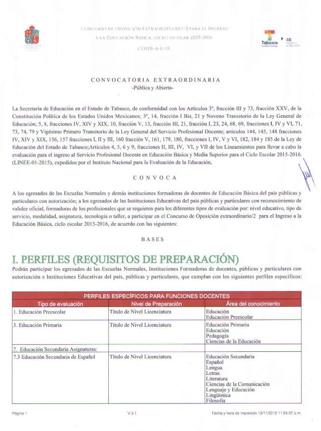 Sitem tabasco 2da convocatoria extraordinaria de plazas for Convocatoria para plazas docentes