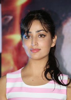 Yami Gautam in light Pink Tank Top Innocent Beauty promotes her movie badlapur