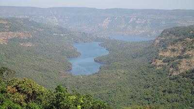 View of koyna dam on the way of Vasota