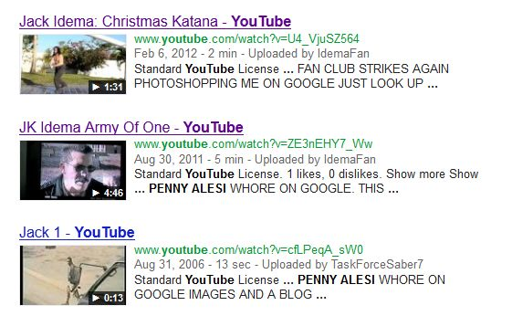 Penny claims she's a whore on youtube videos having to do with Jack Idema, ...