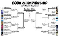 The 2019 Book Championship is ...