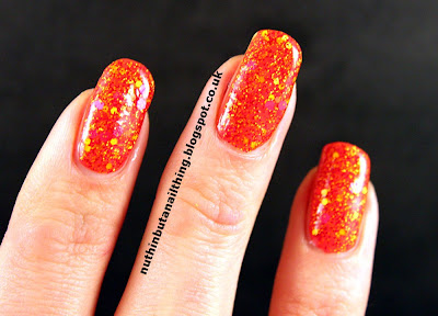 lush lacquer sizzling hot swatch