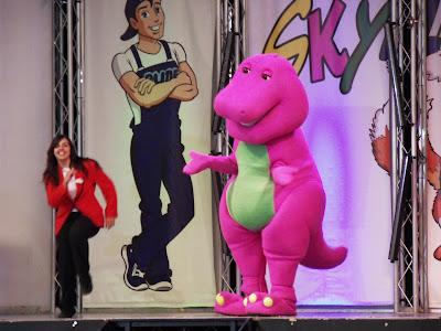 Barney the Dinosaur on stage