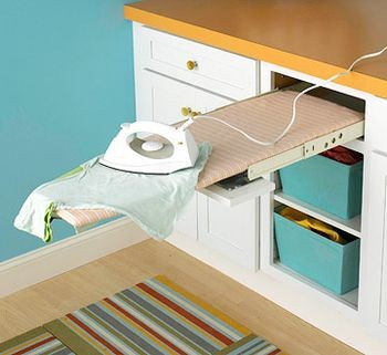 Laundry Room Ironing Board Storage