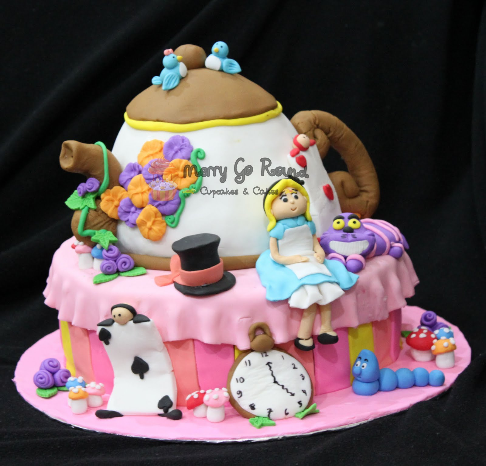Merry Go Round Cupcakes Cakes Birthday Cake Alice in