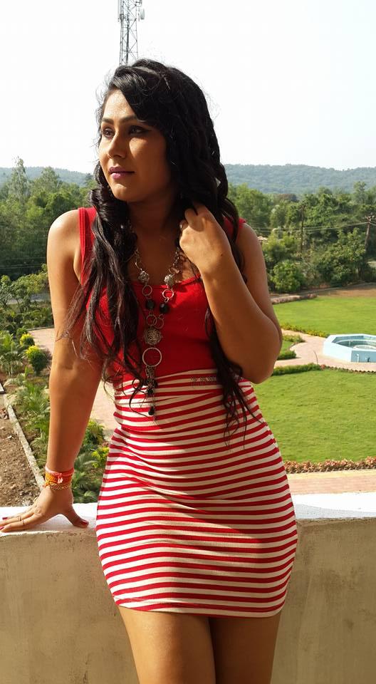 Priyanka Pandit In Red Dress pics