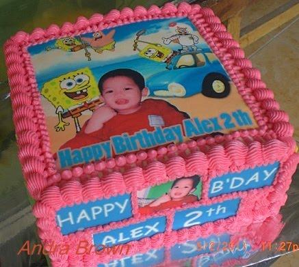 com: Edible Cake dan Isisn Godie Bag Komplit Ultah Alex 2 th