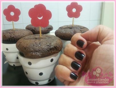 Decoração de cupcakes com tema jardim