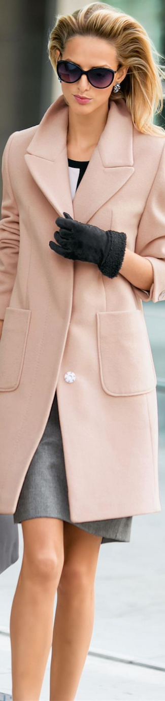 Madeleine Pink Wool Coat
