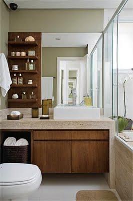 Decoracion de cuartos de ba o con madera decoraciones for Marmol color madera