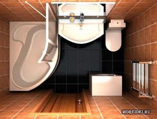 Дизайн ванной комнаты 5.5 кв м