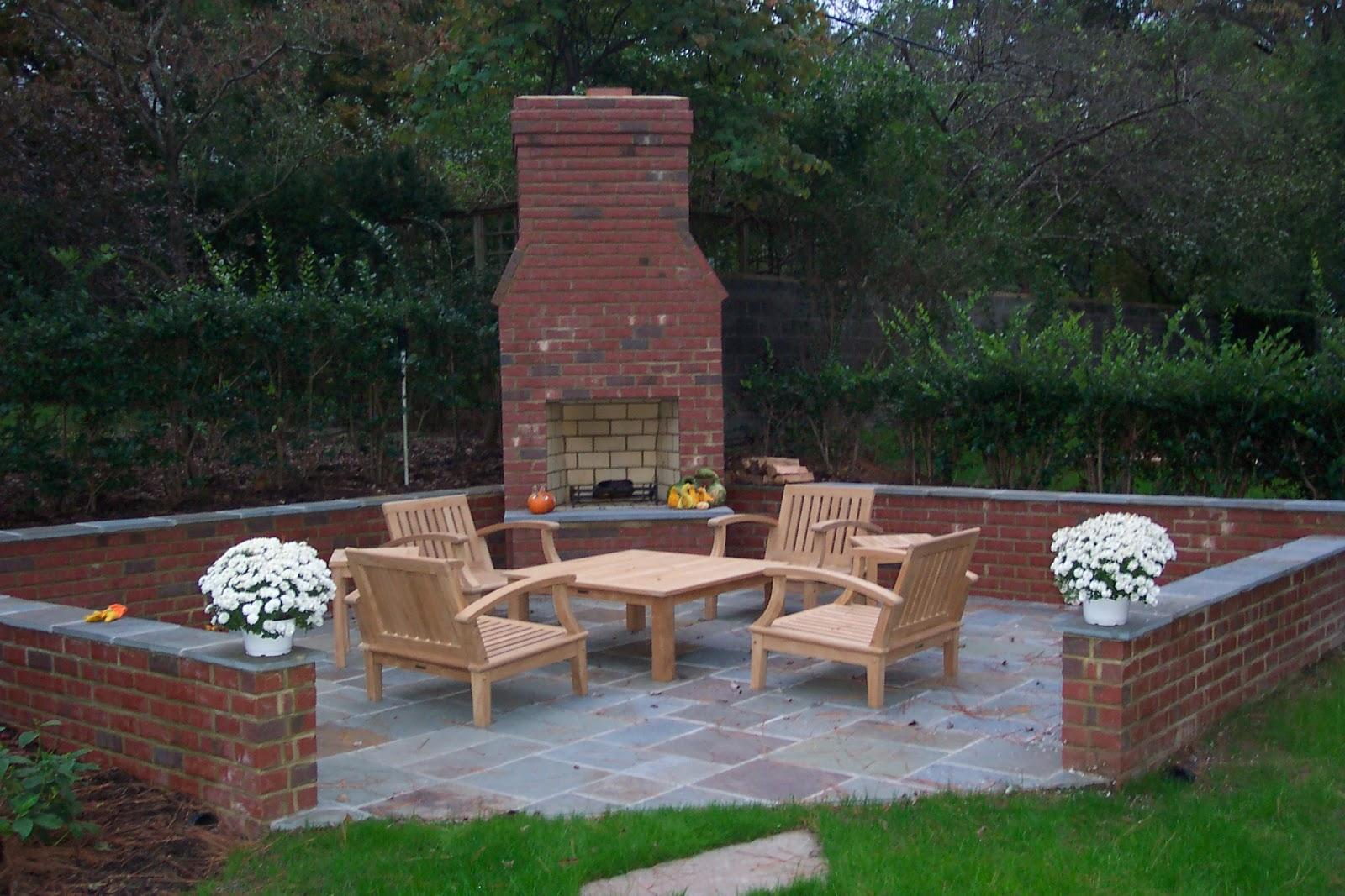 Brick Box Image: Outdoor Brick Fireplace