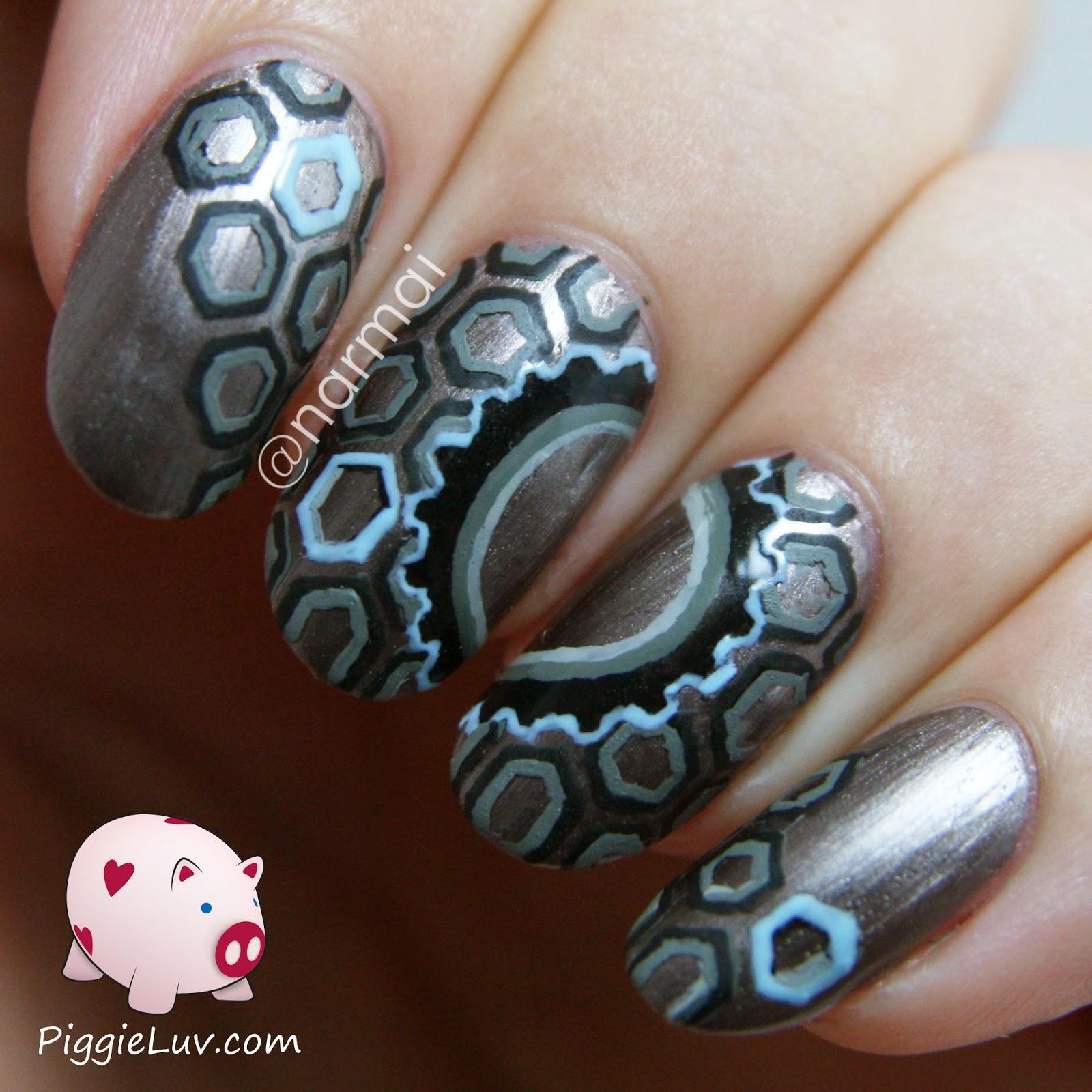 Piggieluv technologic wheels cogs nail art technologic wheels cogs nail art prinsesfo Image collections