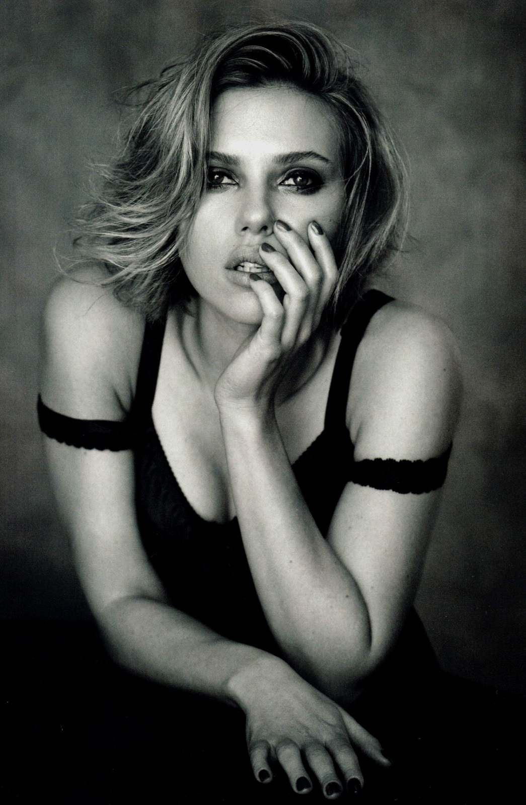 Scarlett Johansson in Vogue China April 2011 (photography: Peter Lindbergh, styling:  Nicoletta Santoro) via fashioned by love