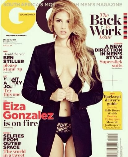 Eiza González Photos from GQ South Africa Magazine Cover March 2014 HQ Scans