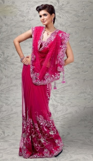 Pink-Indian-Wedding-Party-Wear-Saree