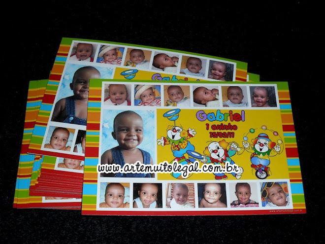 Convites de aniversário infantil e lembrancinhas - Arte muito legal