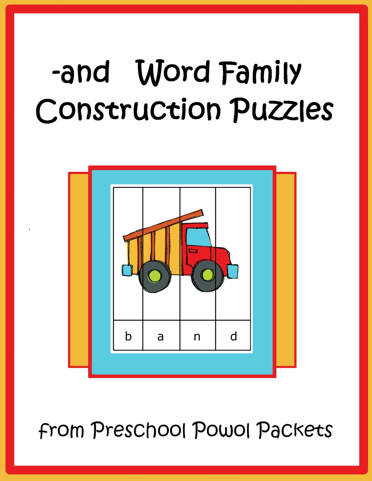 {FREE} Construction Word Family Puzzles