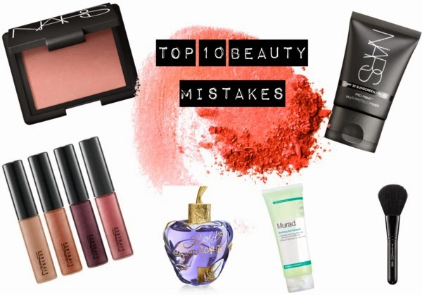 top 10 beauty mistakes