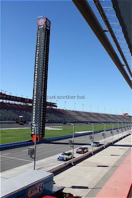 stadium seat view of racetrack