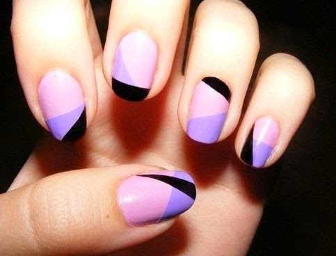 Stripes nail art designs for short nails