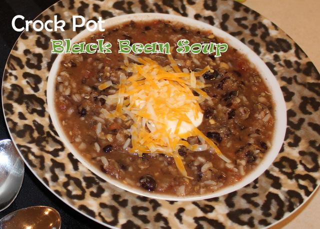 Harris Sisters GirlTalk: Crock Pot Black Bean Soup