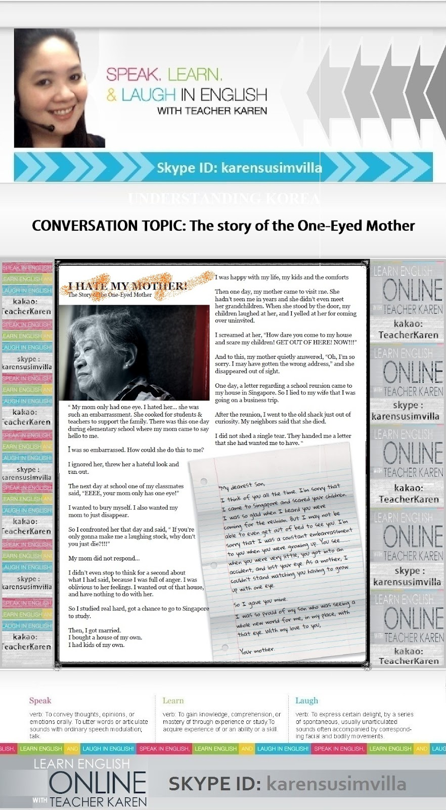 the story of the one eyed mother