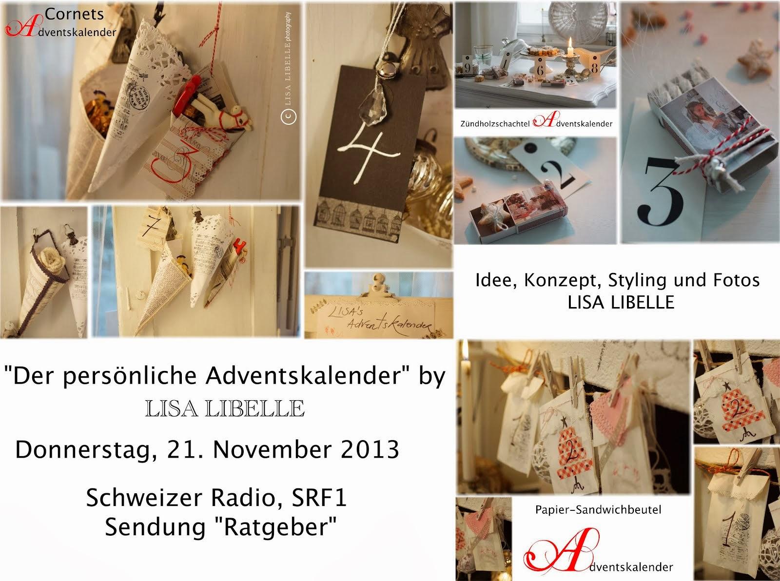 """21.11.2013: Radio SRF1 """"Der persönliche Adventskalender"""""""